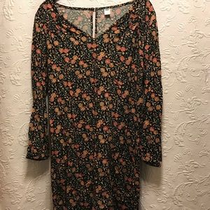Old Navy Floral Long Sleeve Dress Size M